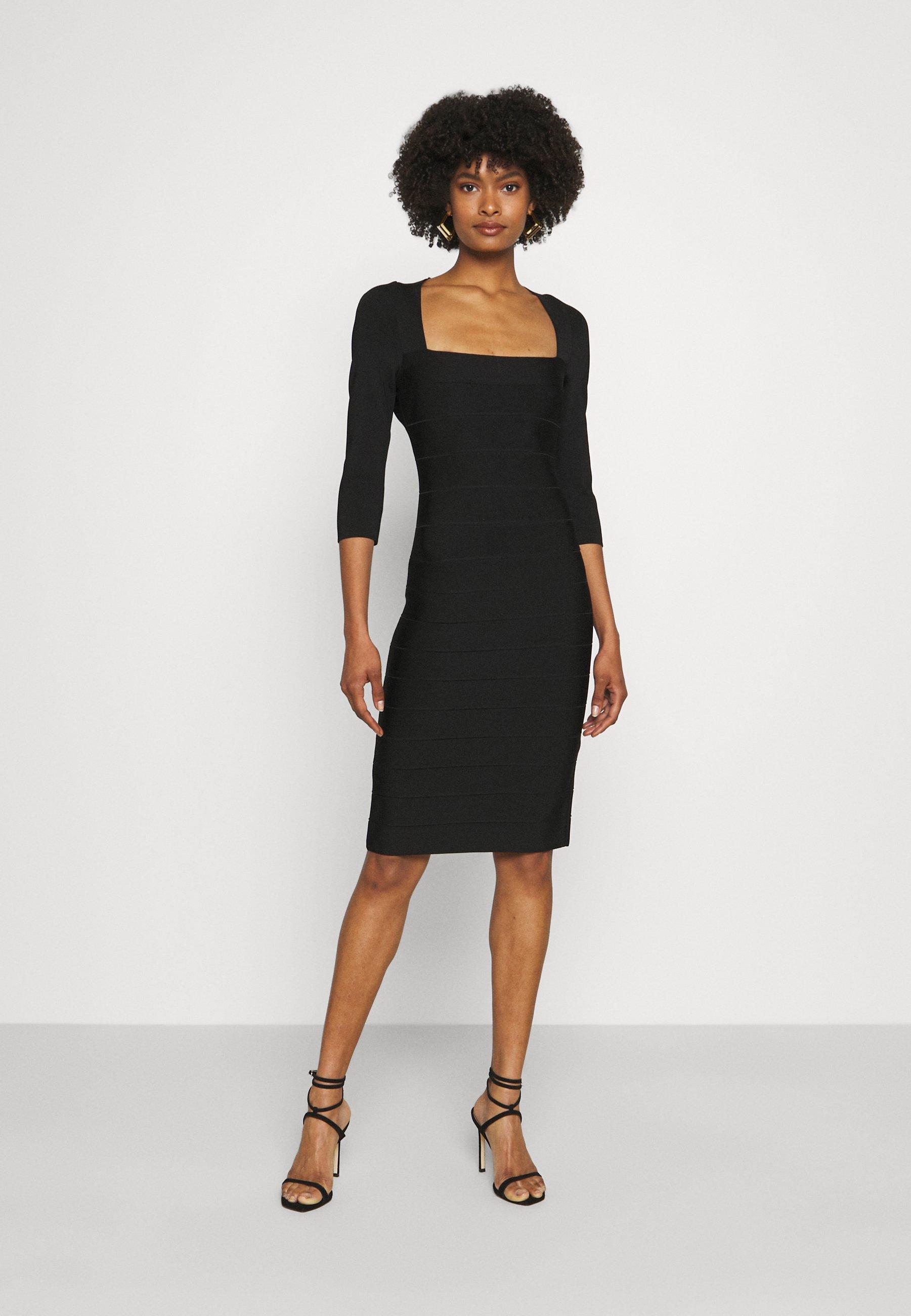 Women SQUARE 3/4 SLEEVE ICON DRESS - Shift dress