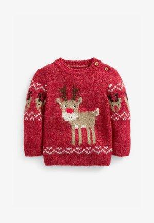 CHRISTMAS REINDEER - Jumper - red