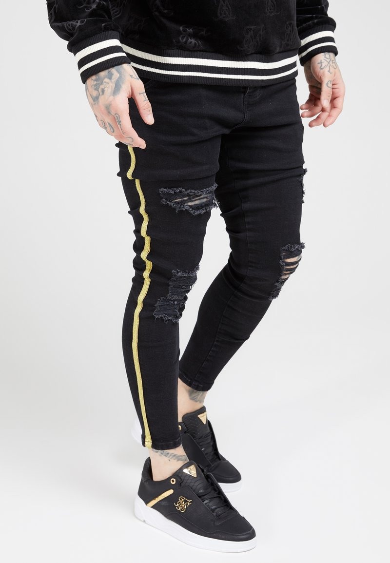 SIKSILK - DISTRESSED TAPED - Jeans Skinny Fit - washed black