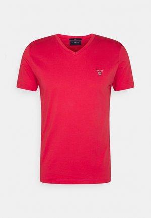 ORIGINAL SLIM V NECK - Basic T-shirt - paradise pink