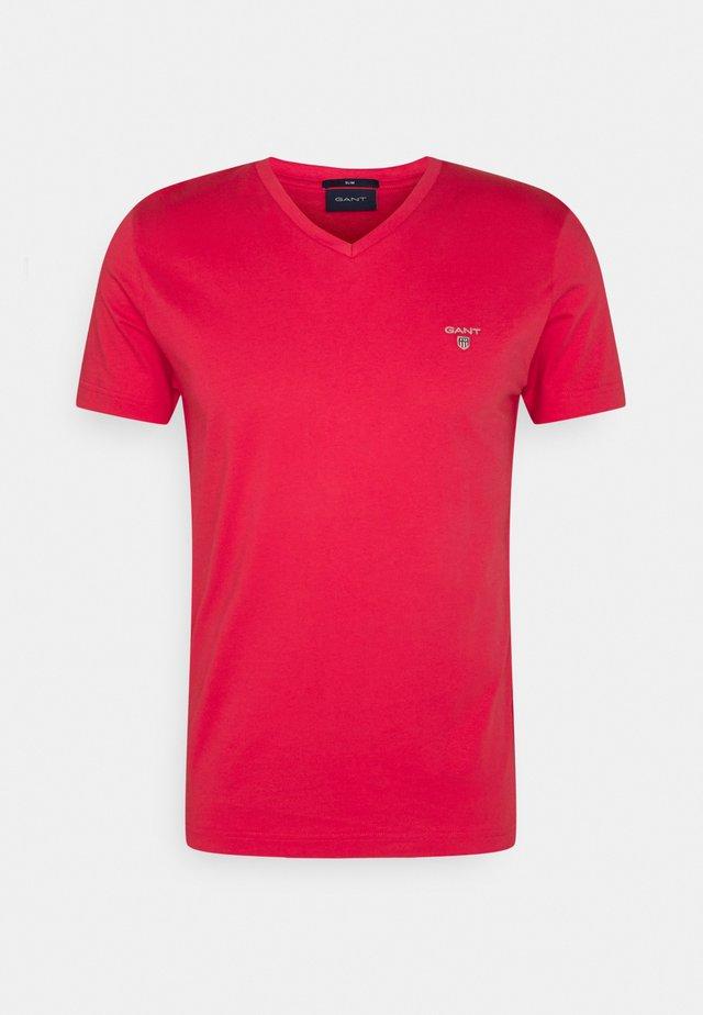 ORIGINAL SLIM V NECK - T-shirt basic - paradise pink