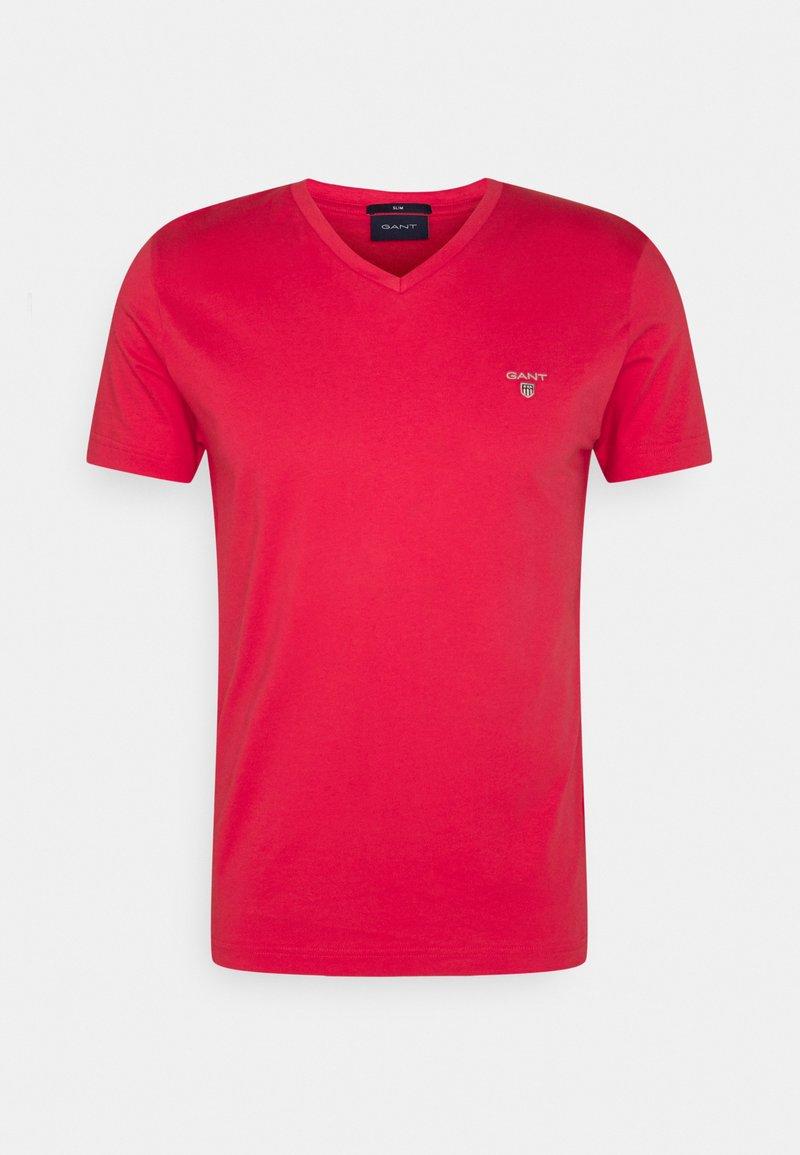 GANT - ORIGINAL SLIM V NECK - T-shirt - bas - paradise pink