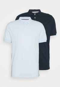 Pier One - 2 PACK - Polo shirt - dark blue/light blue - 7