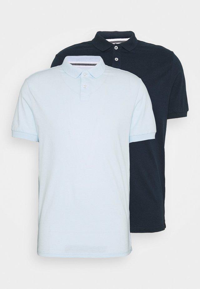 2 PACK - Polo - dark blue/light blue