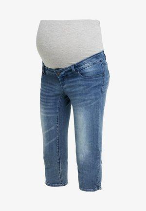 MLGOLDEN SLIM CAPRI - Denim shorts - light blue denim