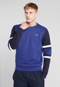 Lacoste Sport - SWEATER - Sweatshirt - ocean/navy blue/white - 0