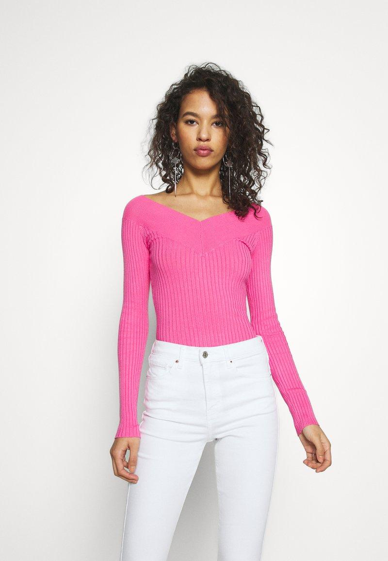 Even&Odd - Strikkegenser - pink
