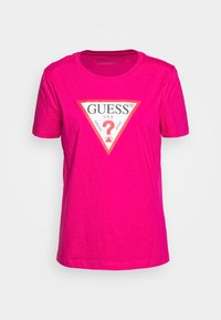Guess - Print T-shirt - shocking pink - 3