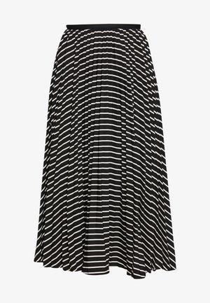 ROE PLEATED CIRCLE SKIRT - A-line skirt - black/ivory