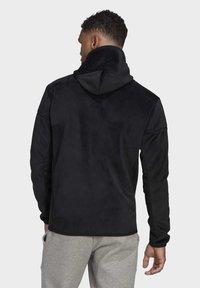 adidas Performance - ADIDAS Z.N.E. FULL-ZIP VELOUR HOODIE - Zip-up hoodie - black - 1
