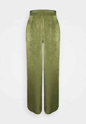 WIDE LEG TROUSER - Trousers - khaki
