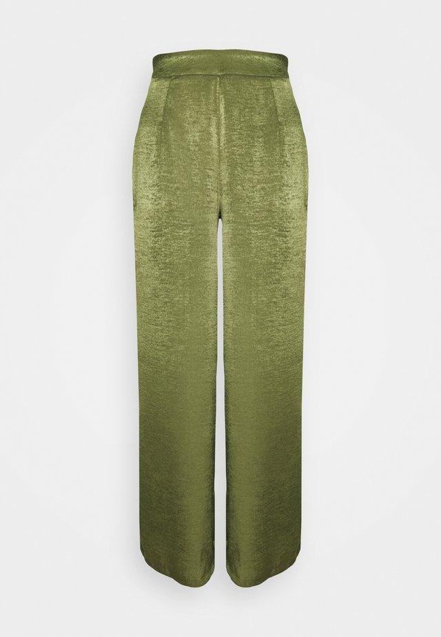 WIDE LEG TROUSER - Bukse - khaki