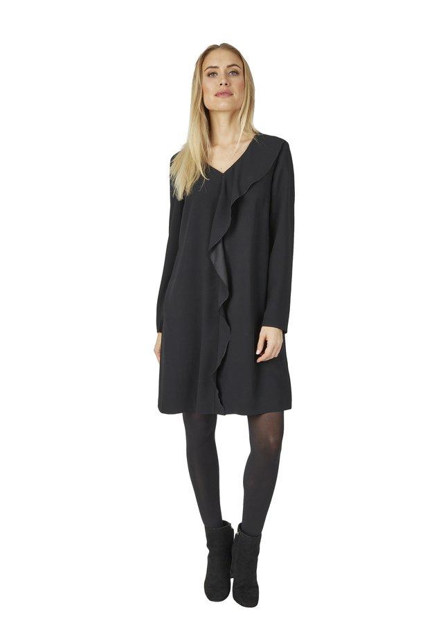 MIT RüSCHE - Day dress - schwarz