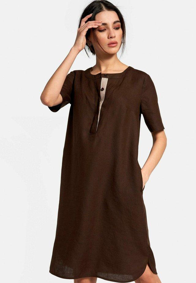 KLEID LEINEN - Korte jurk - mokka