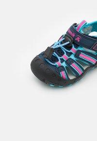 Kamik - CRAB UNISEX - Walking sandals - navy teal/marine bleu sarcelle - 5