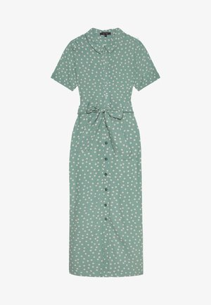 ROSIE MIDI DRESS DOMINO DOT - Shirt dress - spar green