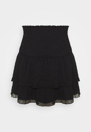 LIZETTE SMOCK SKIRT - A-linjekjol - black