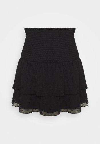 LIZETTE SMOCK SKIRT - A-line skirt - black
