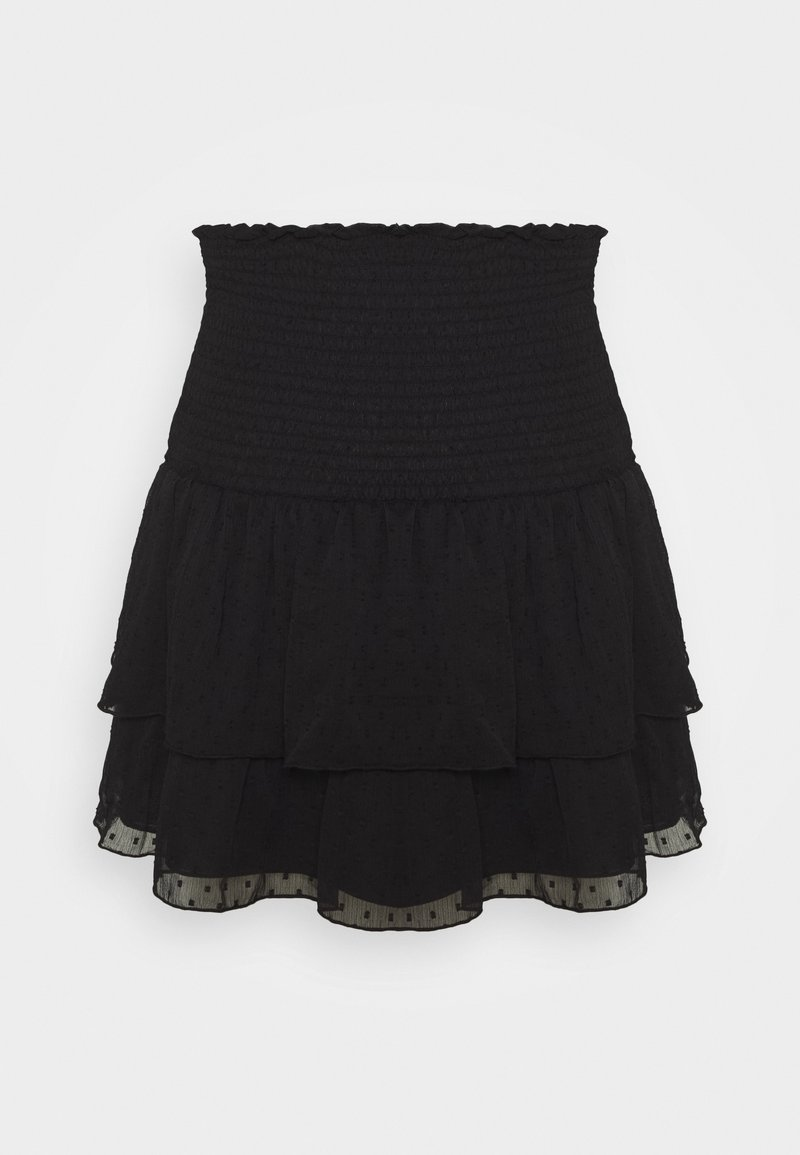 Gina Tricot - LIZETTE SMOCK SKIRT - A-line skirt - black