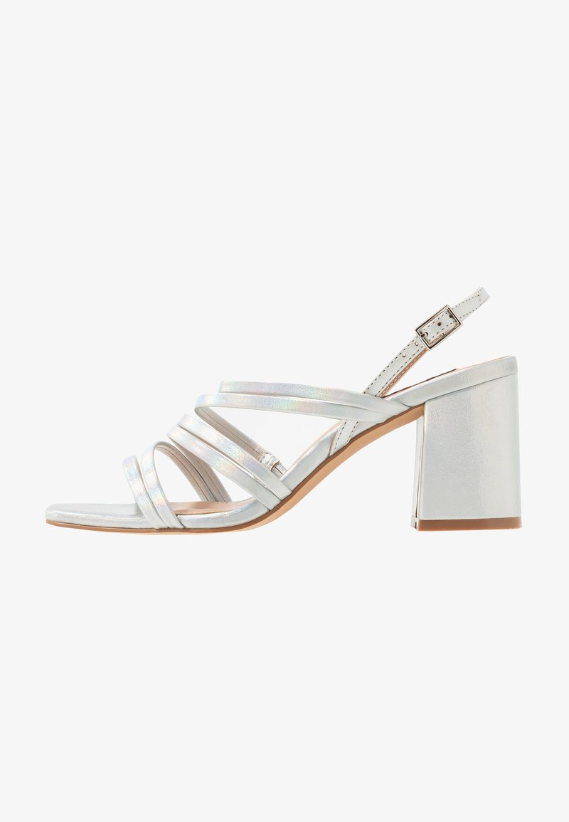 ONLY SHOES - ONLAMANDA STRING HEELED  - Sandály - silver