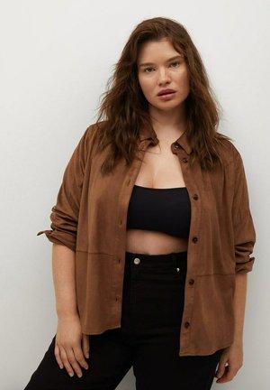 Button-down blouse - marron