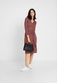 Esprit Collection - WRAP DRESS - Jersey dress - red - 2