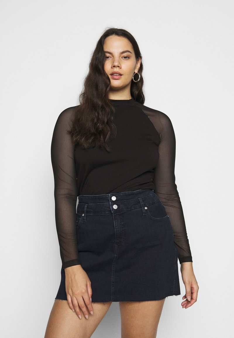 Even&Odd Curvy - Topper langermet - black