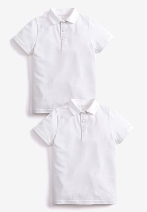 2 PACK CONCEALED FASTENING POLOSHIRTS - Polo shirt - white