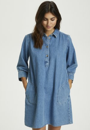 HUANPW DR - Denim dress - medium blue denim