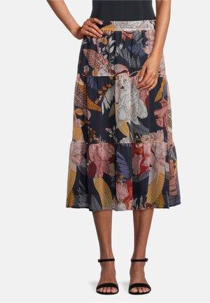 A-line skirt - dark blue/brown