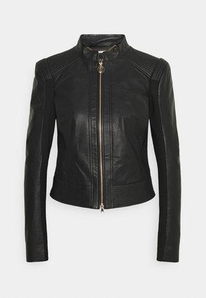 GIACCA - Leather jacket - nero