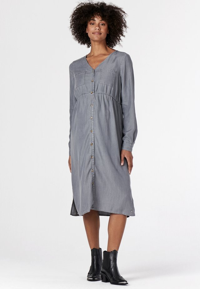 Jersey dress - grey denim