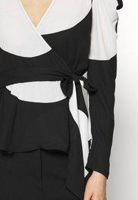 Who What Wear - WRAP  - Blouse - black/white - 6