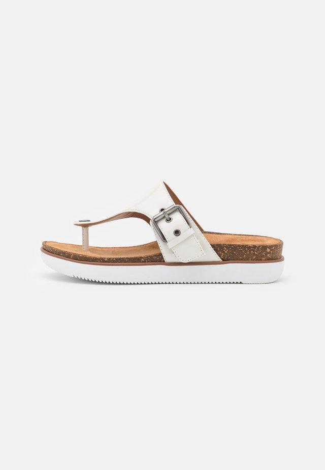 ELAYNE STEP - Sandaler m/ tåsplit - white