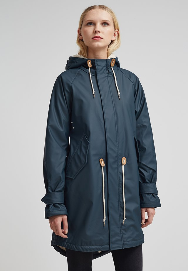 TRAVEL COZY FRIESE - Waterproof jacket - navy