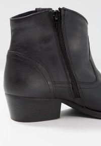 Felmini - WEST - Cowboy/biker ankle boot - lavado black - 2