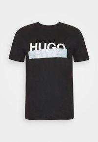 HUGO - DICAGOLINO - Triko spotiskem - black - 5