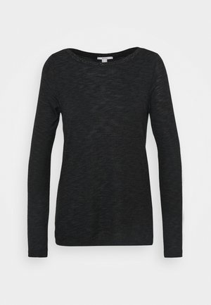 BOAT NECK - Pullover - black