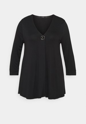 BIG BUTTON - Long sleeved top - black