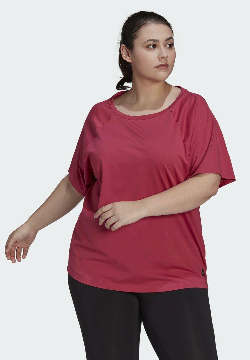 adidas Performance - W TE TEE PB - T-shirts - pink