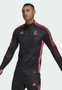 adidas Performance - REAL MADRID AOP TR TOP - Landslagströjor - black - 0
