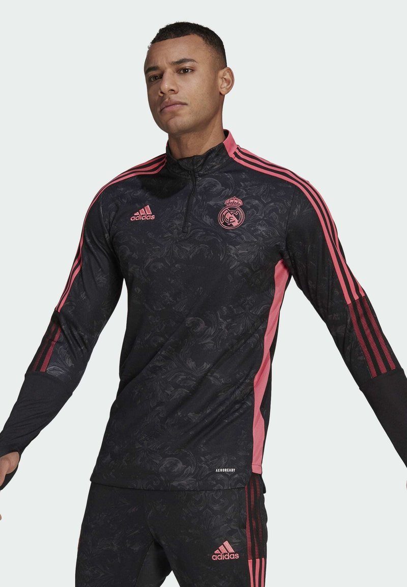 adidas Performance - REAL MADRID AOP TR TOP - Landslagströjor - black