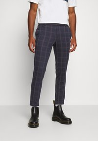 Only & Sons - ONSELIAS CHECK  PANTS - Kalhoty - dress blues - 0