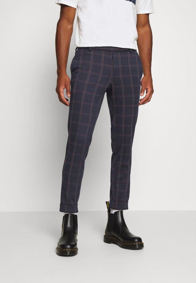 ONSELIAS CHECK  PANTS - Trousers - dress blues