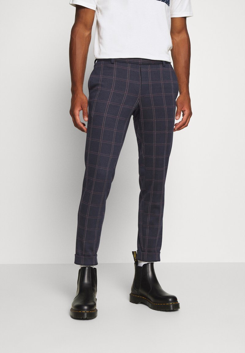 Only & Sons - ONSELIAS CHECK  PANTS - Kalhoty - dress blues