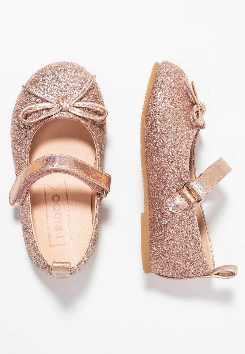 Friboo - Ankle strap ballet pumps - rose gold