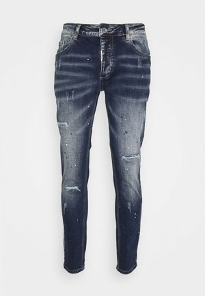 LENTINI - Džíny Slim Fit - washed blue