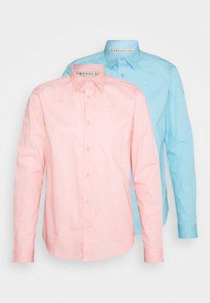 POPLIN SHIRT 2 PACK - Shirt - light blue / light pink