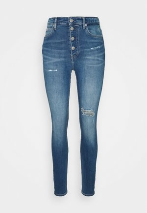 HIGH RISE - Jeans Tapered Fit - blue