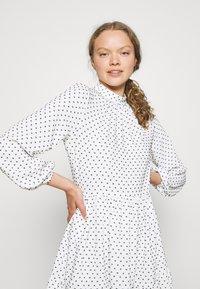 Closet - HIGH COLLAR MINI DRESS - Day dress - ivory - 3